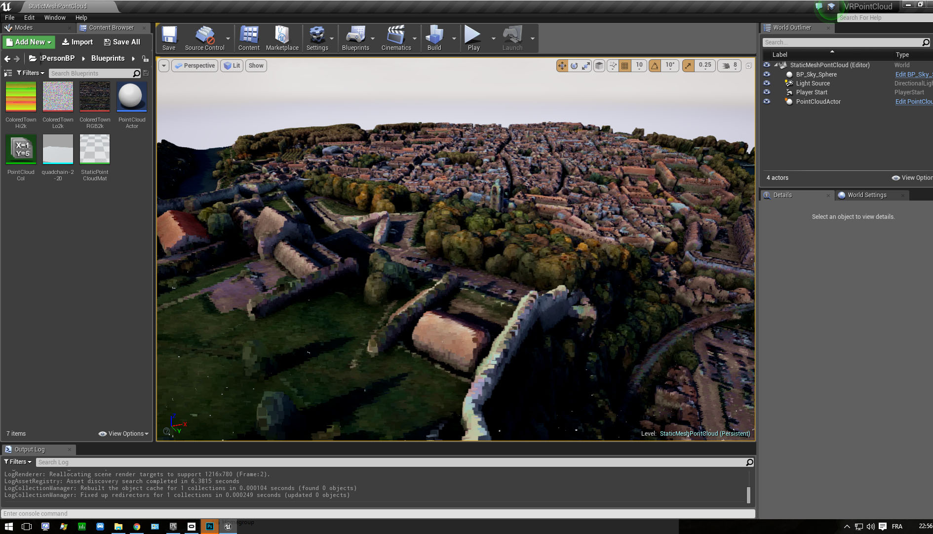 Point Cloud rendering in Unreal Engine (4 13 preview) |